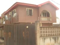FOR SALES—A TASTEFULLY 4 BLOCKS OF 3 BEDROOM FLATS ON TARRED STREET CLOSE TO ABULE-EGBA