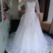 Lacy long sleeve A line Ball wedding gown